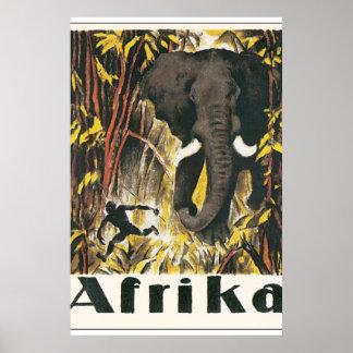 Poster van de Reis van Afrika het Vintage