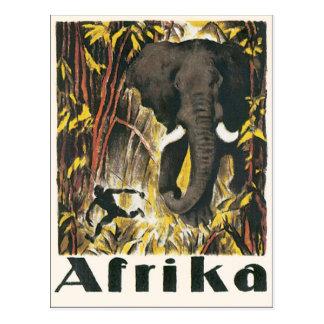 Poster van de Reis van Afrika het Vintage Briefkaart