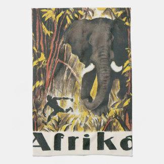 Poster van de Reis van Afrika het Vintage Theedoek