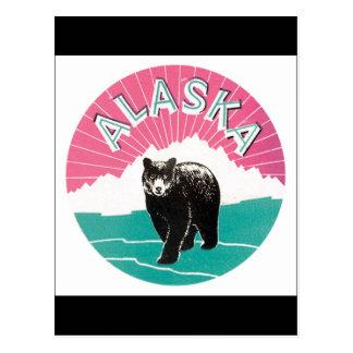 Poster van de Reis van Alaska het Vintage Briefkaart