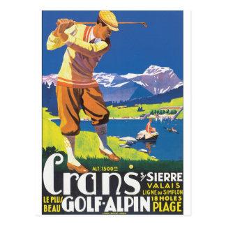 Poster van de Reis van Alpin van het golf het Briefkaart