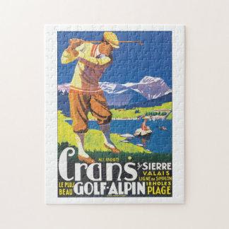 Poster van de Reis van Alpin van het golf het Foto Puzzels