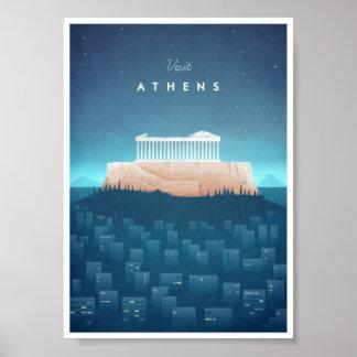 Poster van de Reis van Athene het Vintage