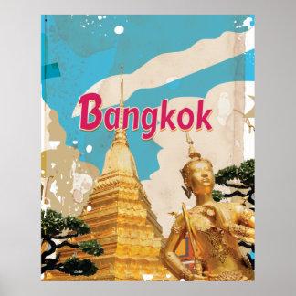 Poster van de Reis van Bangkok het Vintage