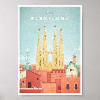 Poster van de Reis van Barcelona het Vintage