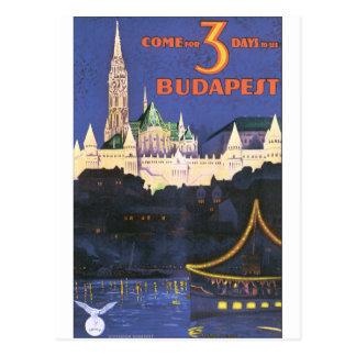 Poster van de Reis van Boedapest het Vintage Briefkaart