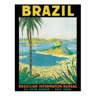 Poster van de Reis van Brazilië het Vintage Briefkaart