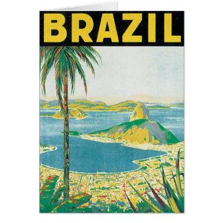Poster van de Reis van Brazilië het Vintage Briefkaarten 0