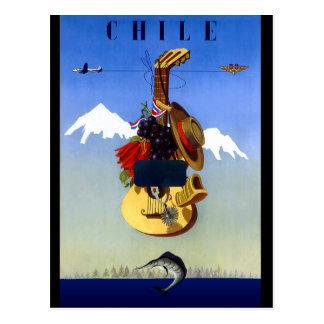Poster van de Reis van Chili het Vintage Briefkaart