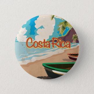 Poster van de Reis van Costa Rica het Vintage Ronde Button 5,7 Cm