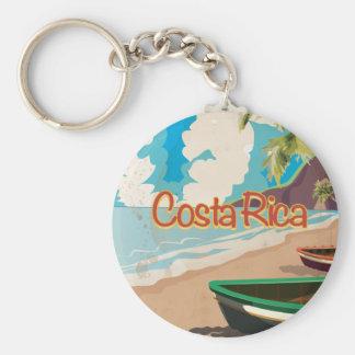 Poster van de Reis van Costa Rica het Vintage Sleutelhanger