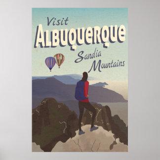 Poster van de Reis van de Bergen van Albuquerque