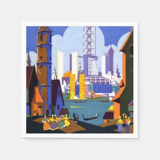 Poster van de Reis van de vintage van 1934 Wereld Papieren Servet