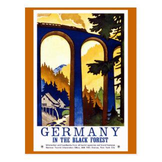 Poster van de Reis van Duitsland het Zwarte Bos Briefkaart