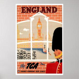 Poster van de Reis van Engeland Retro