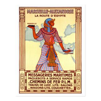 Poster van de Reis van Frankrijk het Egypte Briefkaart