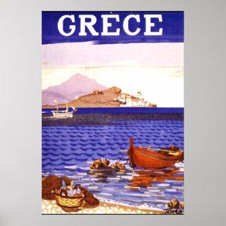 Poster van de Reis van Griekenland het Vintage