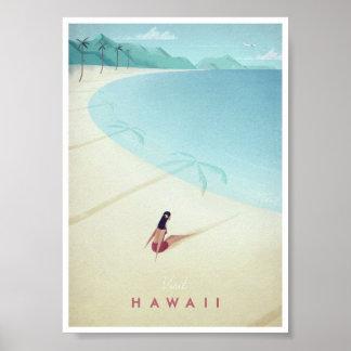 Poster van de Reis van Hawaï het Vintage