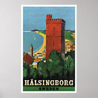 Poster van de Reis van Helsingborg Zweden het