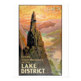 Poster van de Reis van het District van het Meer Briefkaart