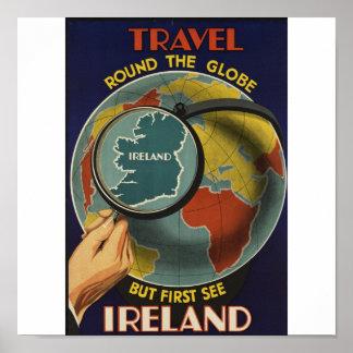 Poster van de Reis van Ierland het Vintage