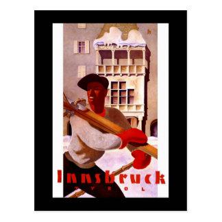 """Poster van de Reis van """"Innsbruck"""" het Vintage Briefkaart"""