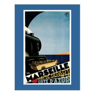Poster van de Reis van Marseille het Vintage Briefkaart