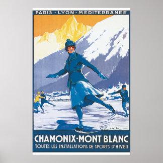 Poster van de Reis van Mont Blanc van Chamonix het