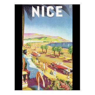 Poster van de Reis van Nice het Vintage Briefkaart
