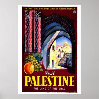 """Poster van de Reis """"van Palestina van het bezoek"""""""