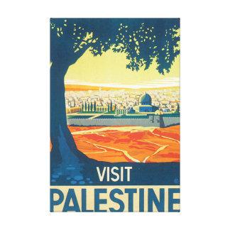 Poster van de Reis van Palestina van het bezoek Canvas Print