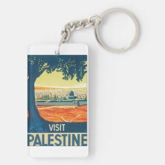 Poster van de Reis van Palestina van het bezoek Sleutelhanger
