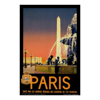 Poster van de Reis van Parijs het Vintage