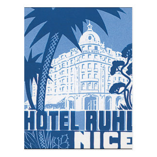 Poster van de Reis van Ruhl Nice van het hotel het Briefkaart