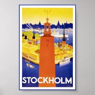 Poster van de Reis van Stockholm Zweden het
