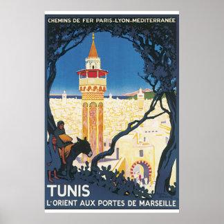 Poster van de Reis van Tunis het Vintage