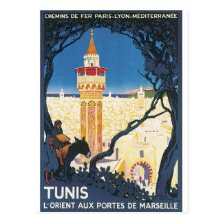 Poster van de Reis van Tunis het Vintage Briefkaart
