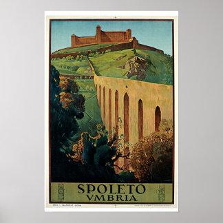 Poster van de Reis van Umbrië van Spoleto het Vint