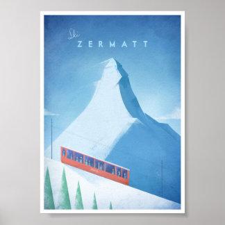 Poster van de Reis van Zermatt van de ski het