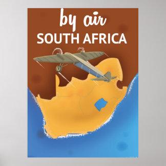 Poster van de Reis van Zuid-Afrika het Vintage