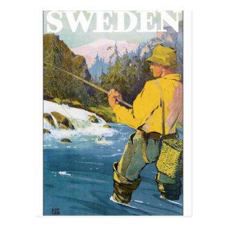 Poster van de Reis van Zweden het Vintage Briefkaart