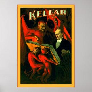 Poster van de Tovenaar van Kellar ~ het Vintage