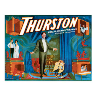 Poster van de Tovenaar van Thurston het Vintage Briefkaart