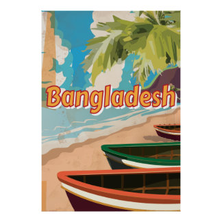 Poster van de vakantie van Bangladesh het Vintage