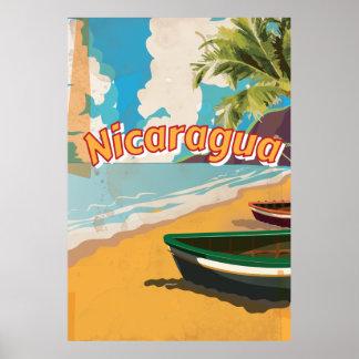 Poster van de vakantie van Nicaragua het Vintage