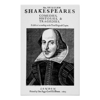 Poster van de Werken van William Shakespeare het