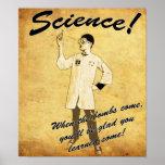 poster van de Wetenschap van jaren '40 Retro