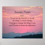 Poster van de Zonsondergang van het Gebed van de s