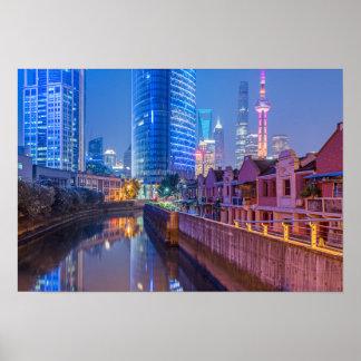 Poster van het District van Shanghai het