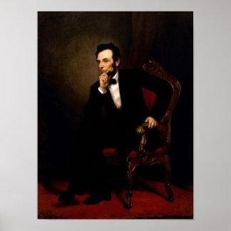 Poster van het Portret van Abraham Lincoln het Off